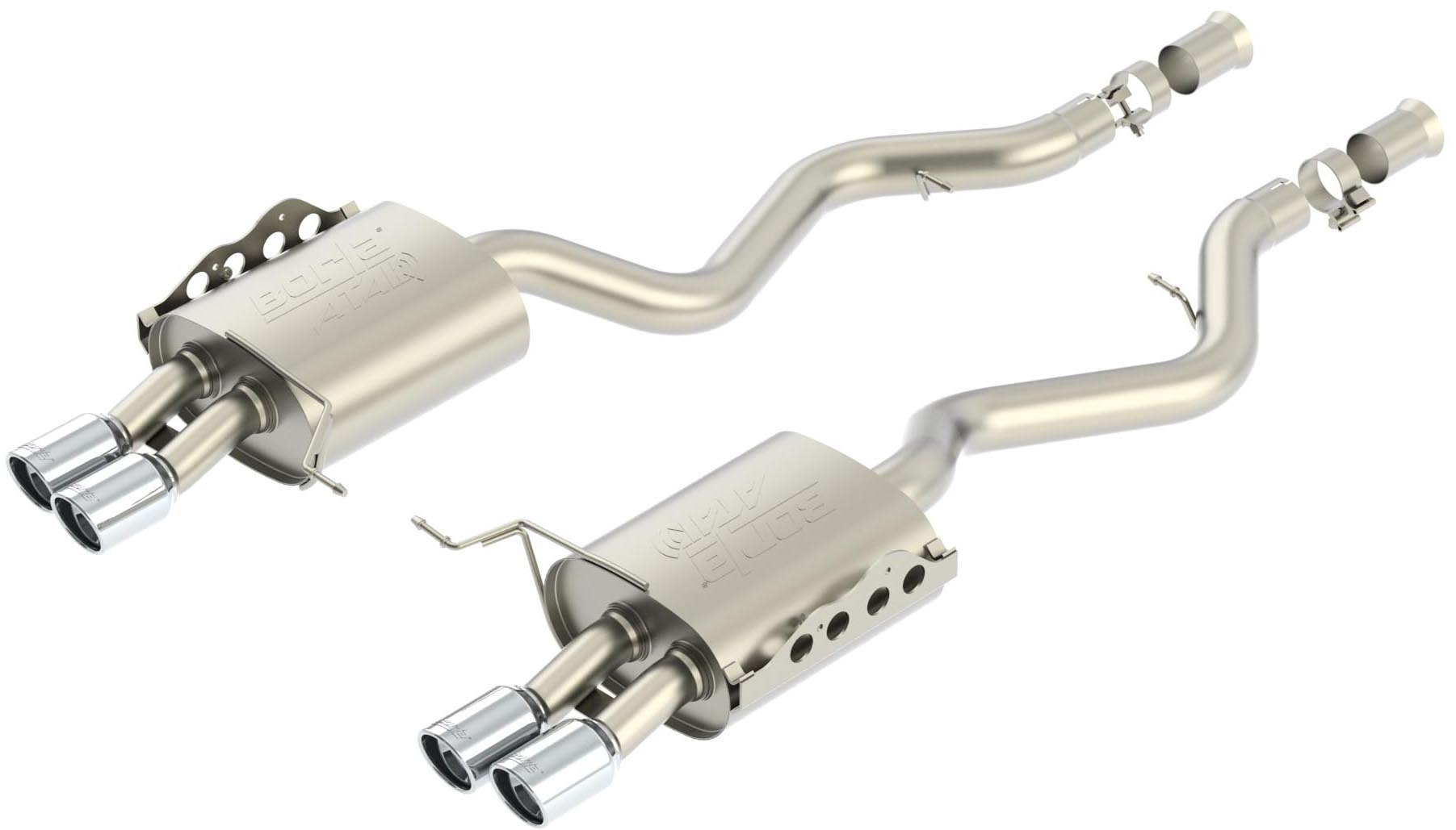 "Bmw M3 Sedan 2008-2011 Borla 2.75"" `rear Exhaust Section ""atak"" - Dual Round Rolled Angle-Cut"