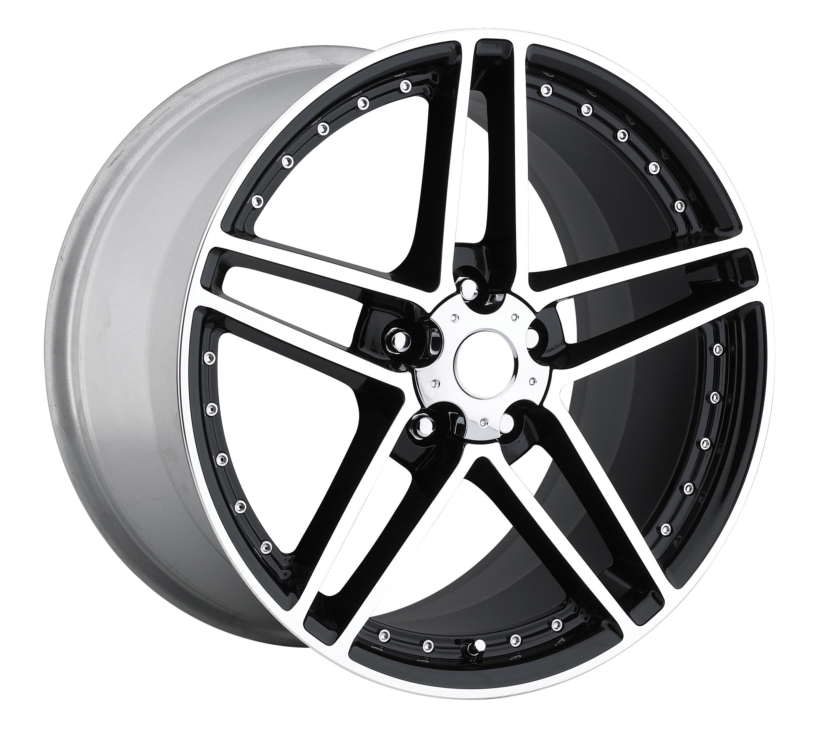 Chevrolet Corvette 1997-2012 18x8.5 5x4.75 +56 - C6 Z06 Motorsport Wheel -  Black Machine Face With Cap