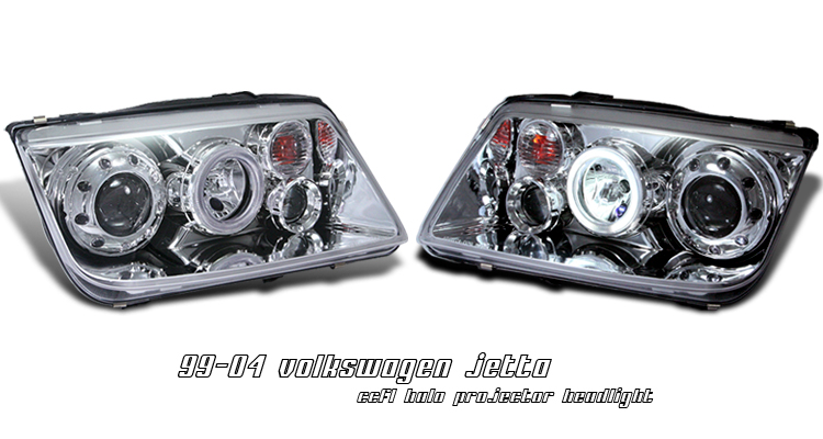 Volkswagen Jetta 1999-2004  Chrome W/ Ccfl Halo Projector Headlights