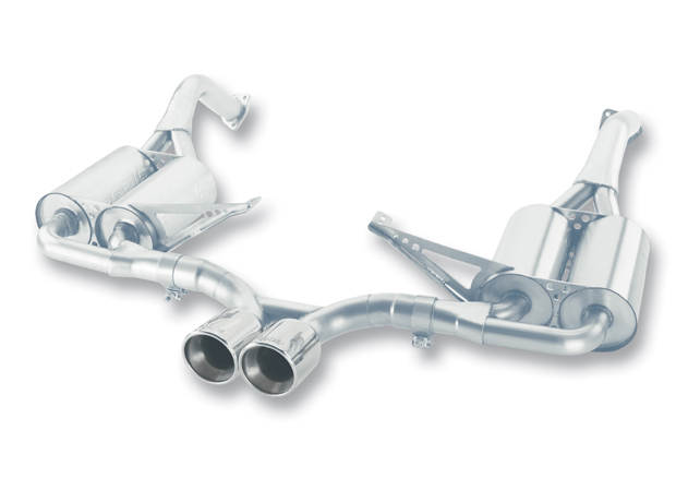 "Porsche Boxster  2005-2008 Borla 2.25"" Cat-Back Exhaust System (offroad Only) - Dual Round Rolled Angle-Cut"