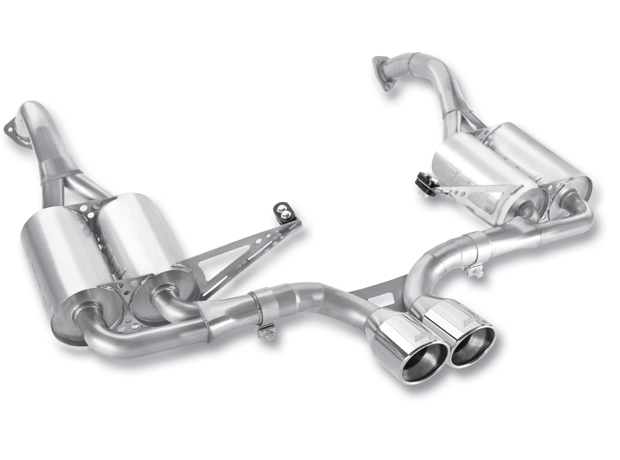 "Porsche Boxster  2009-2011 Borla 2.25"" Cat-Back Exhaust System  (offroad Only) - Single Round Rolled Angle-Cut Phantom"