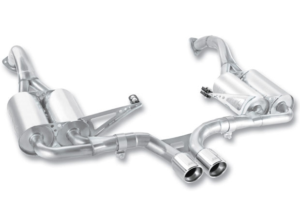 "Porsche Boxster  2009-2011 Borla 2.25"" Cat-Back Exhaust System  (offroad Only) - Single Round Rolled Angle-Cut Lined"
