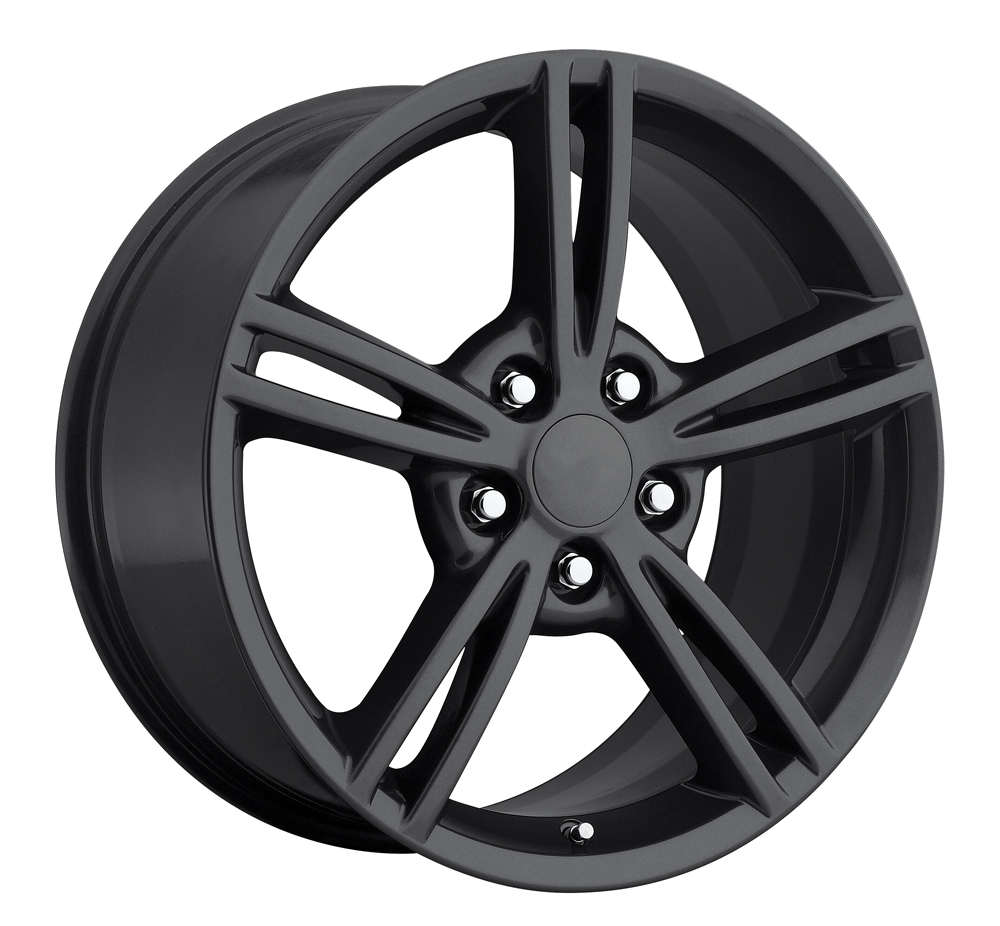 Chevrolet Corvette 1997-2012 18x8.5 5x4.75 +56 2008 Style Wheel - Grey With Cap 