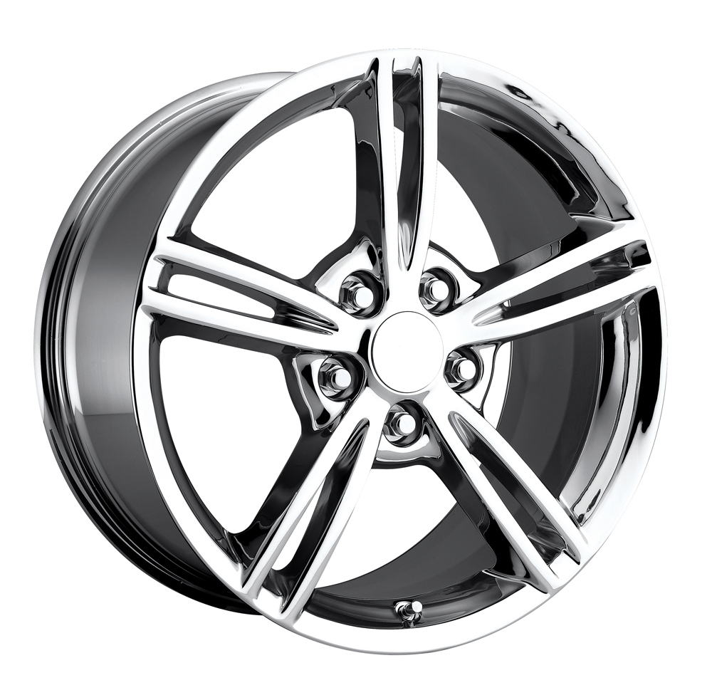 Chevrolet Corvette 1997-2012 18x9.5 5x4.75 +57 2008 Style Wheel - Chrome With Cap