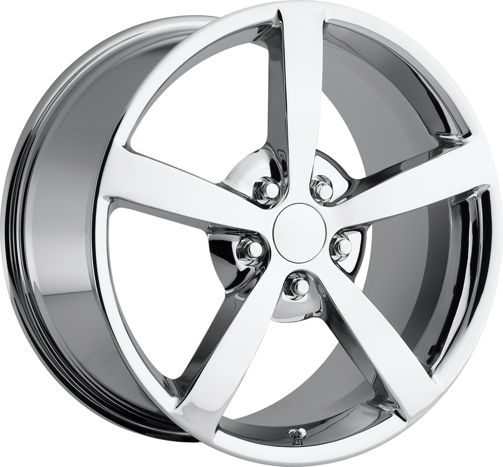 Chevrolet Corvette 1997-2012 18x8.5 5x4.75 +56 2009 Style Wheel - Chrome With Cap