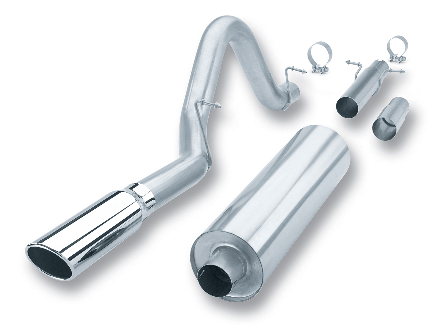 "Dodge Durango 4.7l/5.2l/5.9l V8 1998-2003 Borla 3"" Cat-Back Exhaust System - Single Round Rolled Angle-Cut  Long X Single Round Rolled Angle-Cut Intercooled Tips"" Dia"