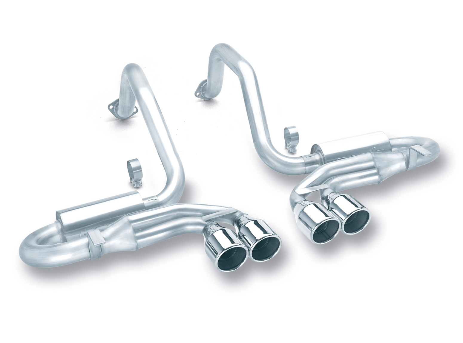 "Chevrolet Corvette C5/Z06 5.7l V8 1997-2004 Borla 2.5"", 2"" Cat-Back Exhaust System ""s-Type"" - Dual Round Rolled Angle-Cut"