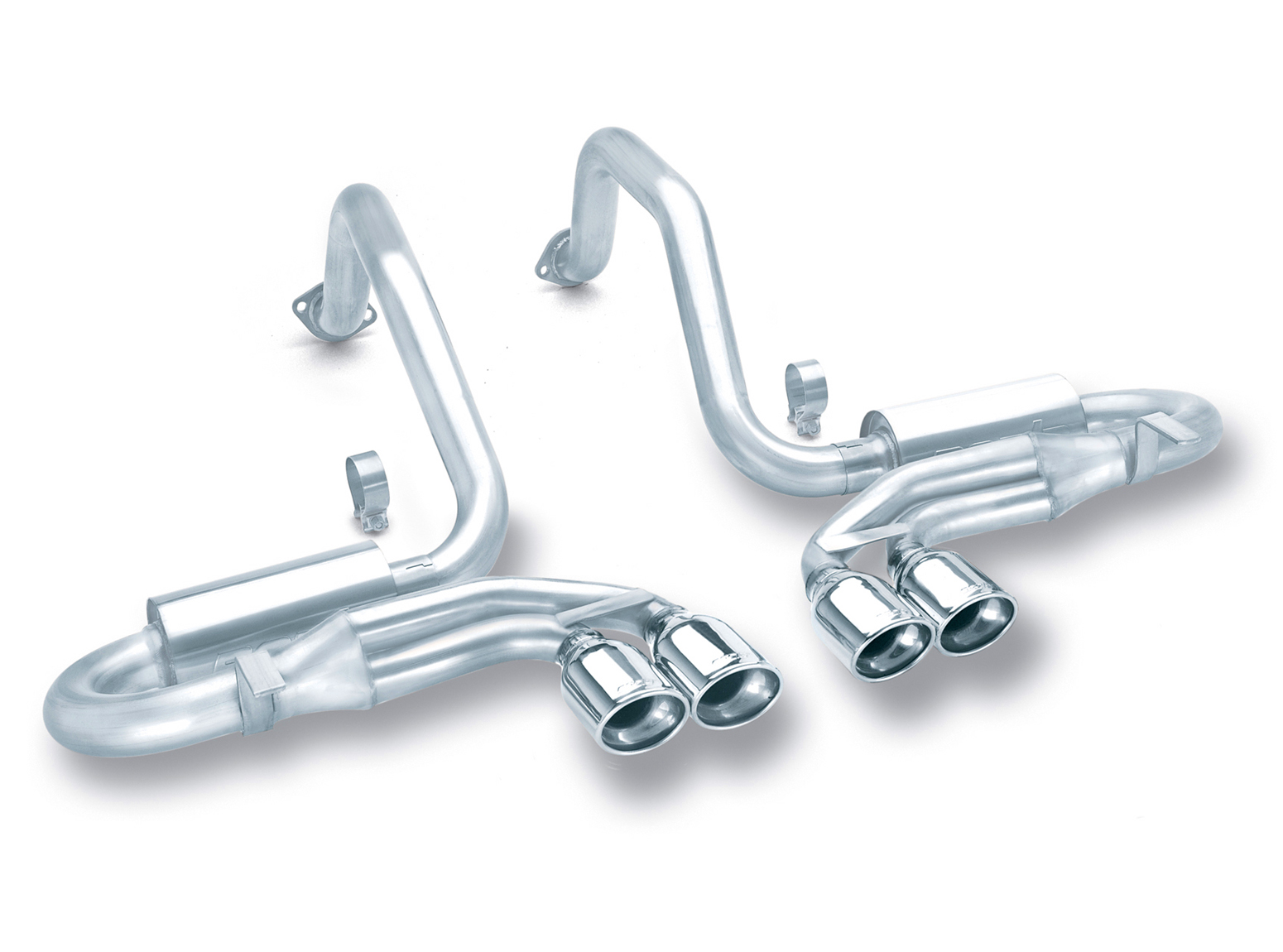 "Chevrolet Corvette C5/Z06 5.7l V8 1997-2004 Borla 2.5"", 2"" Cat-Back Exhaust System ""s-Type"" - Dual Oval Rolled Angle-Cut"