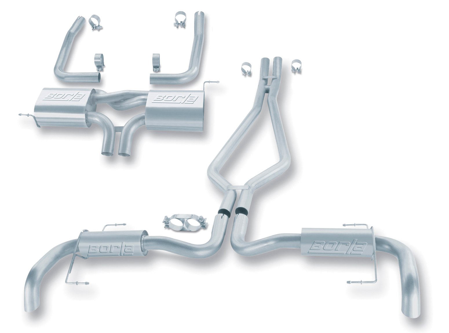 "Land Rover Range Rover Hse 4.4l V8 2003-2005 Borla 2.25"", 2"" Cat-Back Exhaust System - Turndown/Turnout"