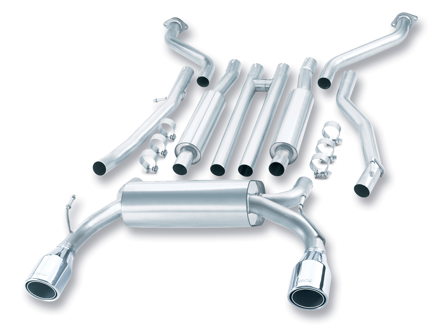 "Infiniti G35 Coupe 2003-2007 Borla 2.25"" Cat-Back Exhaust System - Single Round Rolled Angle-Cut Phantom"
