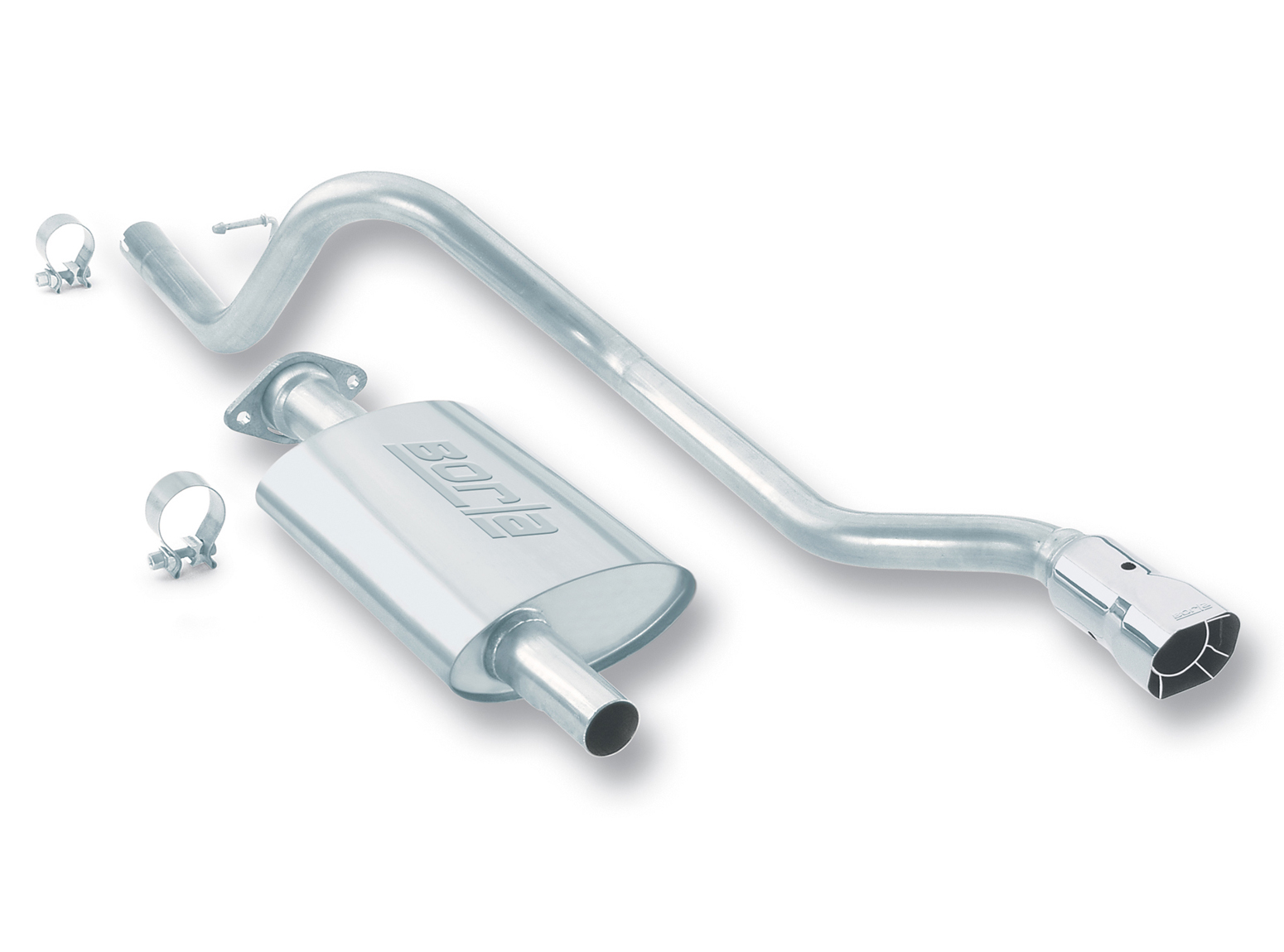 "Jeep Cherokee 4.0l 6cyl 2000-2001 Borla 2.25"", 2"" Cat-Back Exhaust System - Single Square Angle-Cut Intercooled Tips"