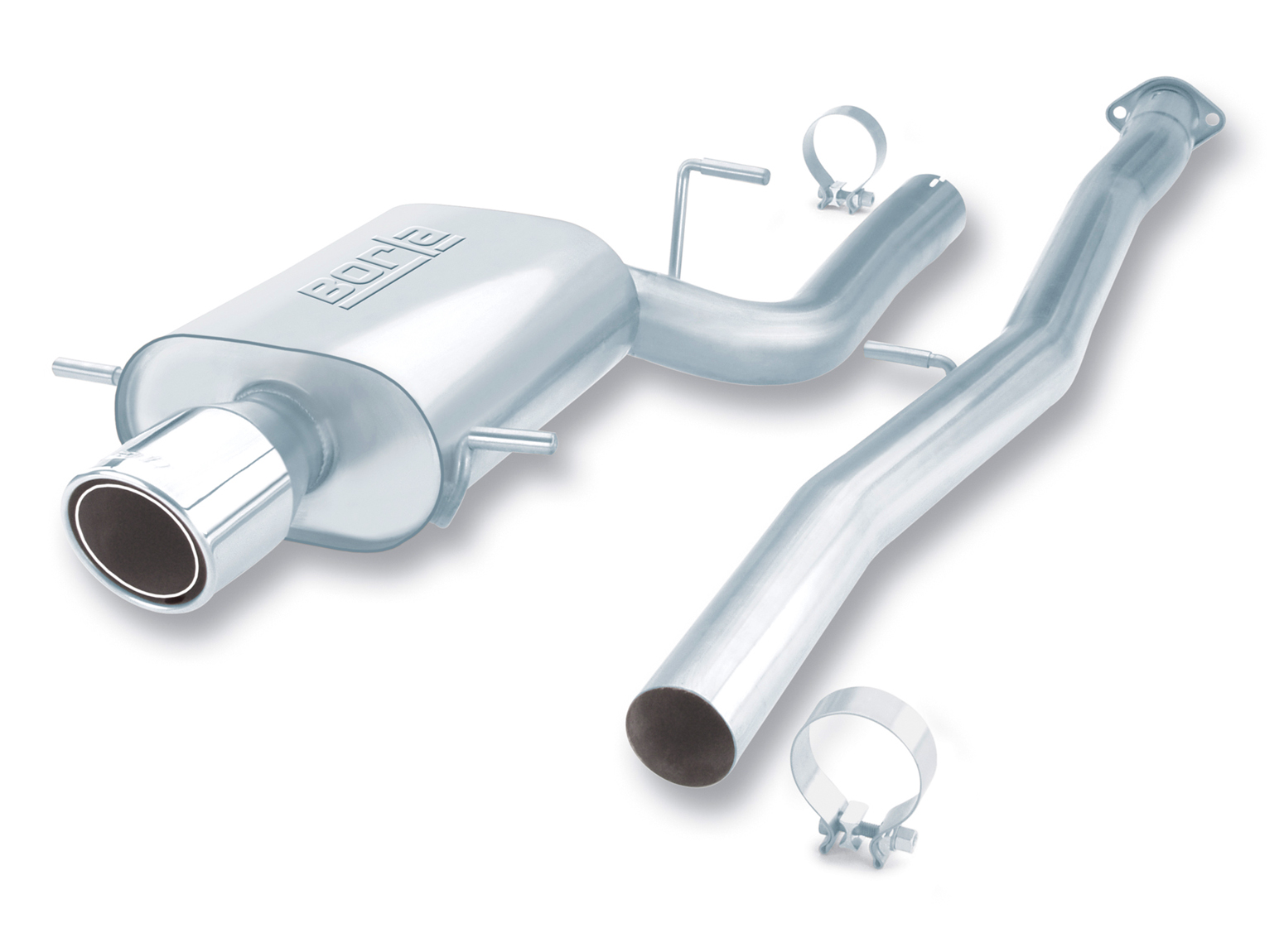 "Subaru WRX  2002-2007 Borla 3"" Cat-Back Exhaust System ""s-Type"" - Single Round Rolled Angle-Cut Phantom"