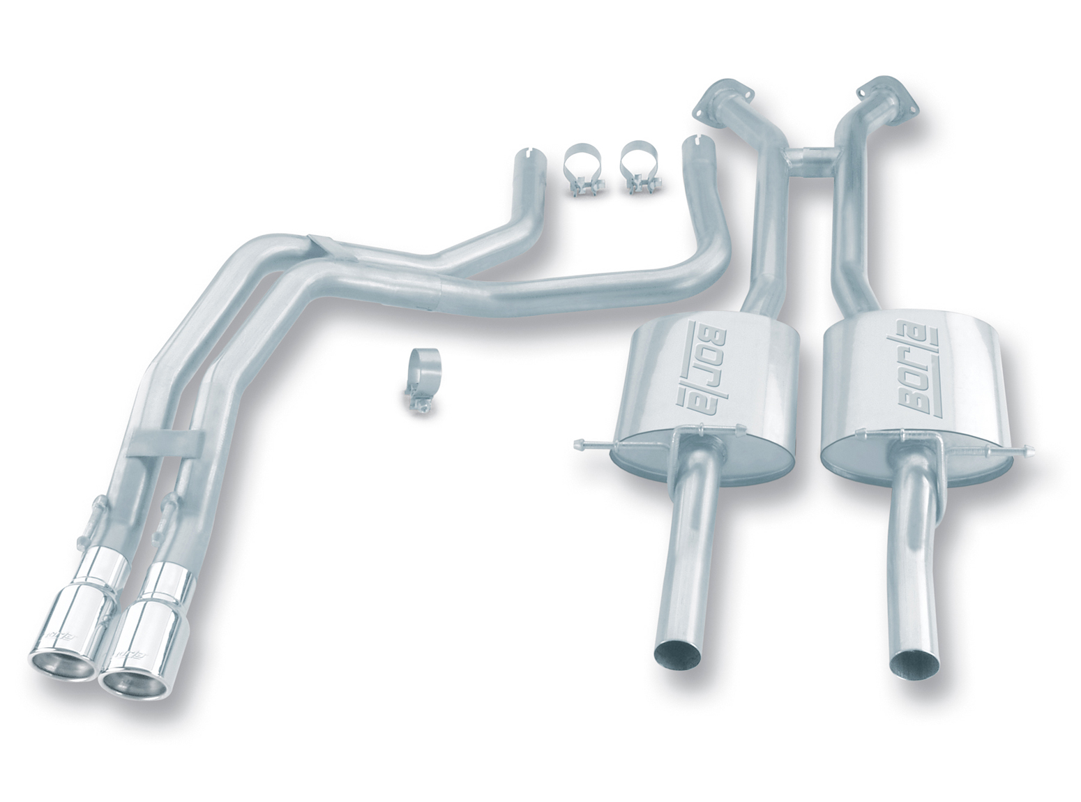 "Pontiac Gto 5.7l 2004-2004 Borla 2.25"" Cat-Back Exhaust System - Dual Round Rolled Angle-Cut"