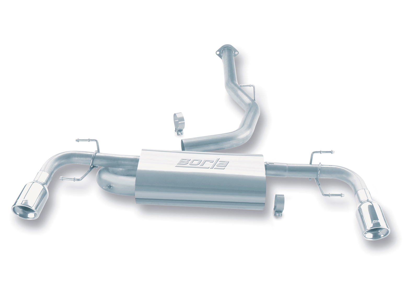 "Mazda Rx-8  2004-2008 Borla 3"", 2.25"" Cat-Back Exhaust System - Single Round Rolled Angle-Cut Lined"