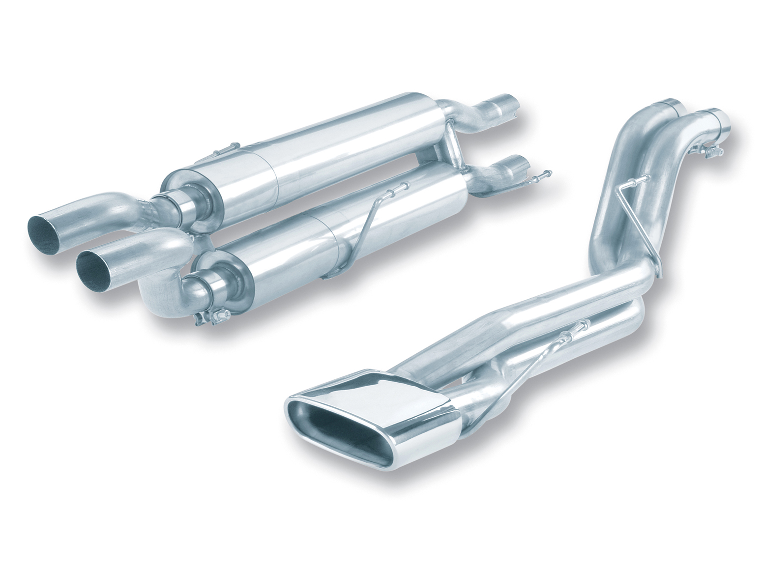 "Dodge Ram SRT-10 8.3l V10 2004-2005 Borla 2.5"" Cat-Back Exhaust System - Single Rectangle Rolled Angle-Cut Tips"