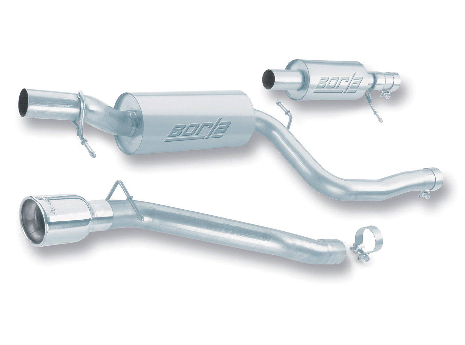 "Mazda Mazda 3 2.3l 4cyl 5dr 2004-2009 Borla 2.5"" Cat-Back Exhaust System - Single Round Rolled Angle-Cut Lined"