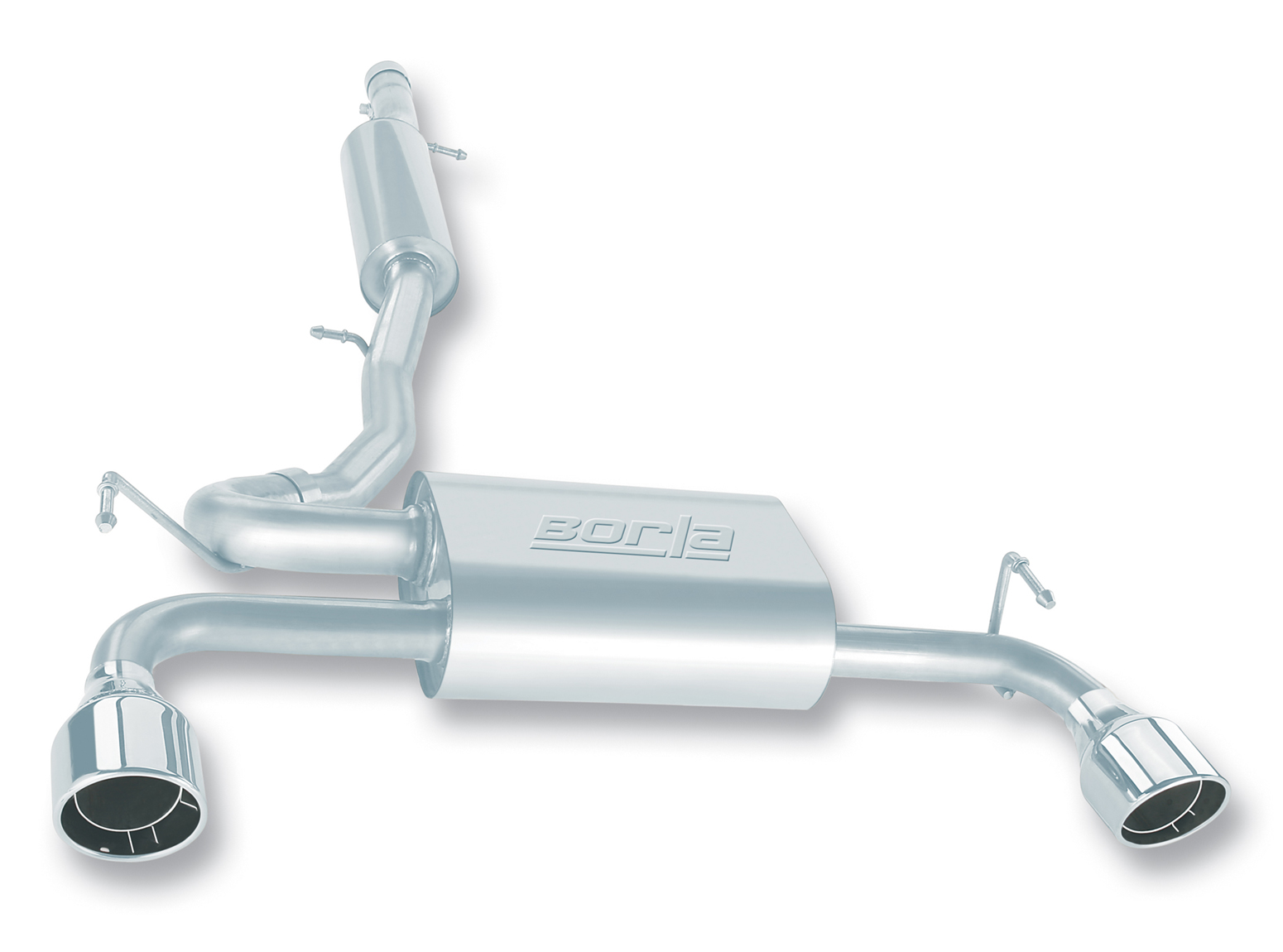 "Volkswagen Golf R32 2004-2004 Borla 2.5"" Cat-Back Exhaust System - Single Round Rolled Angle-Cut Intercooled"