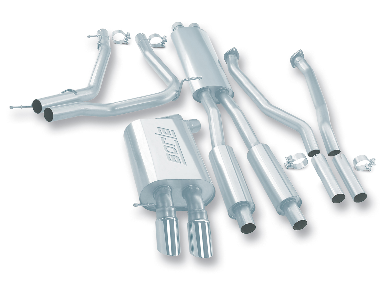 "Bmw 7 Series 745i/Li 2002-2005 Borla 2.25"" Cat-Back Exhaust System - Dual Round Angle-Cut Phantom"