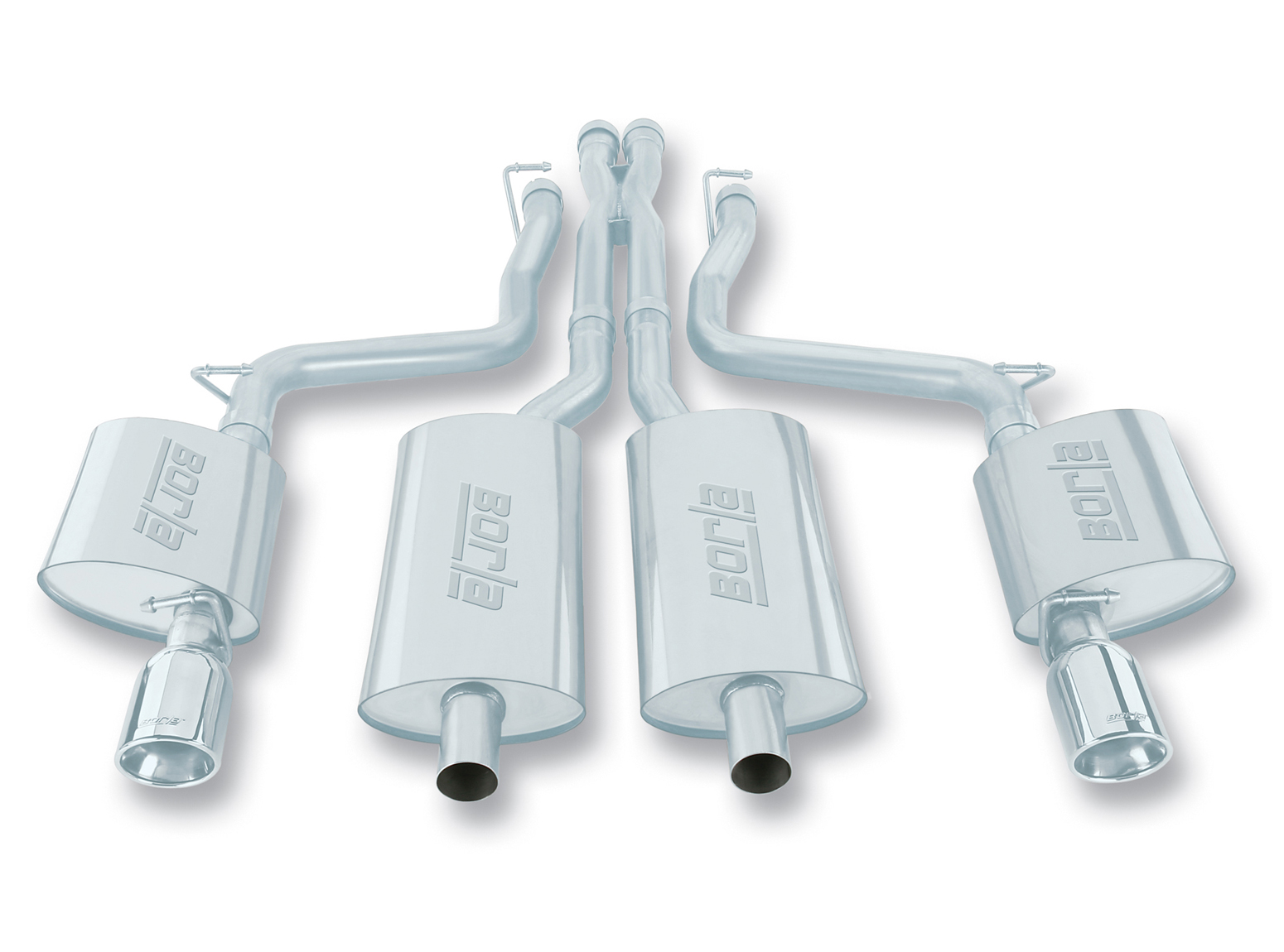 "Dodge Magnum SRT-8 6.1l V8 2005-2008 Borla 2.5"" Cat-Back Exhaust System - Single Round Rolled Angle-Cut Lined"