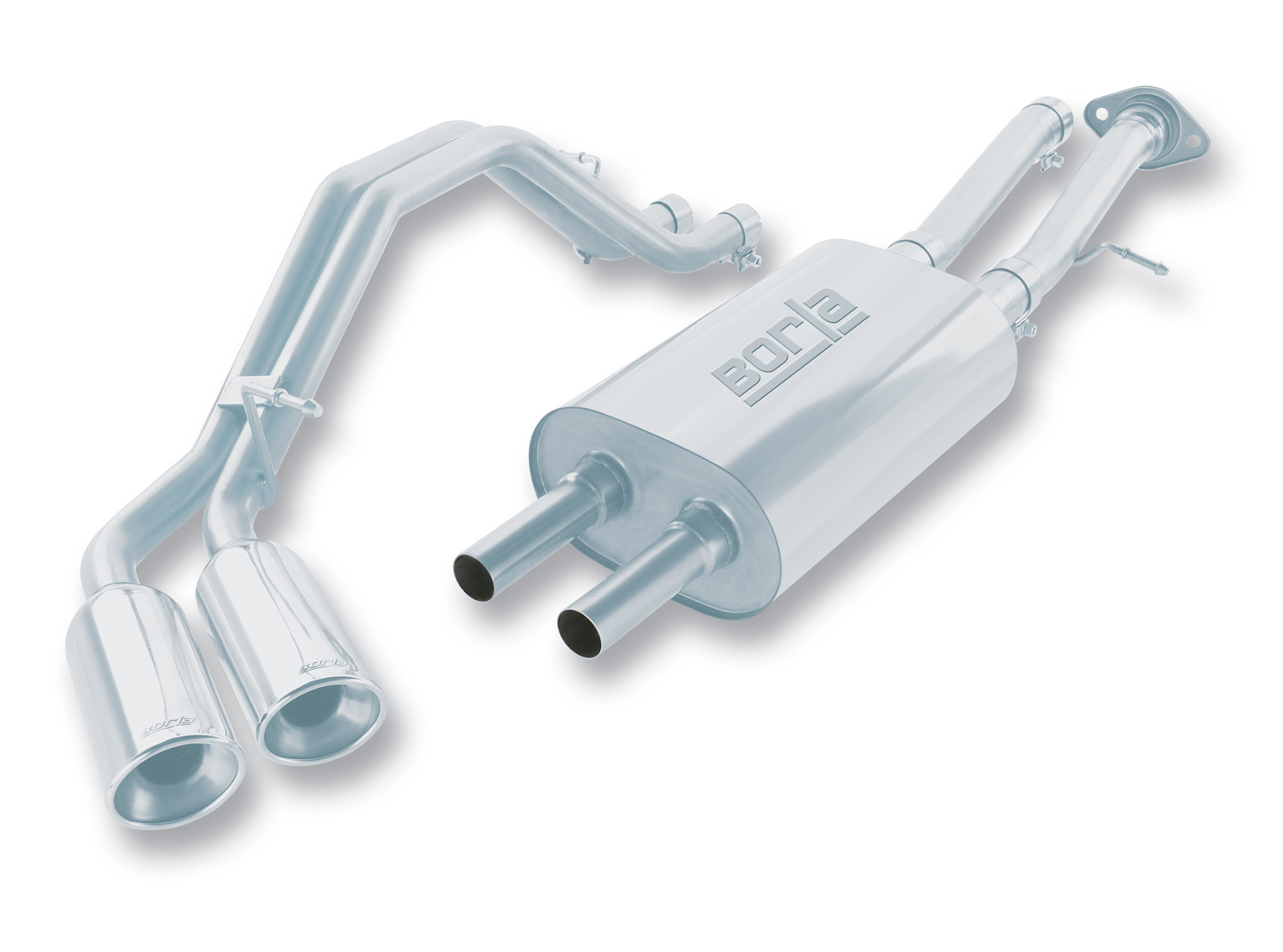 "Cadillac Escalade 6.0l 2002-2006 Borla 2.5"", 2"" Cat-Back Exhaust System - Dual Oval Rolled Angle-Cut"