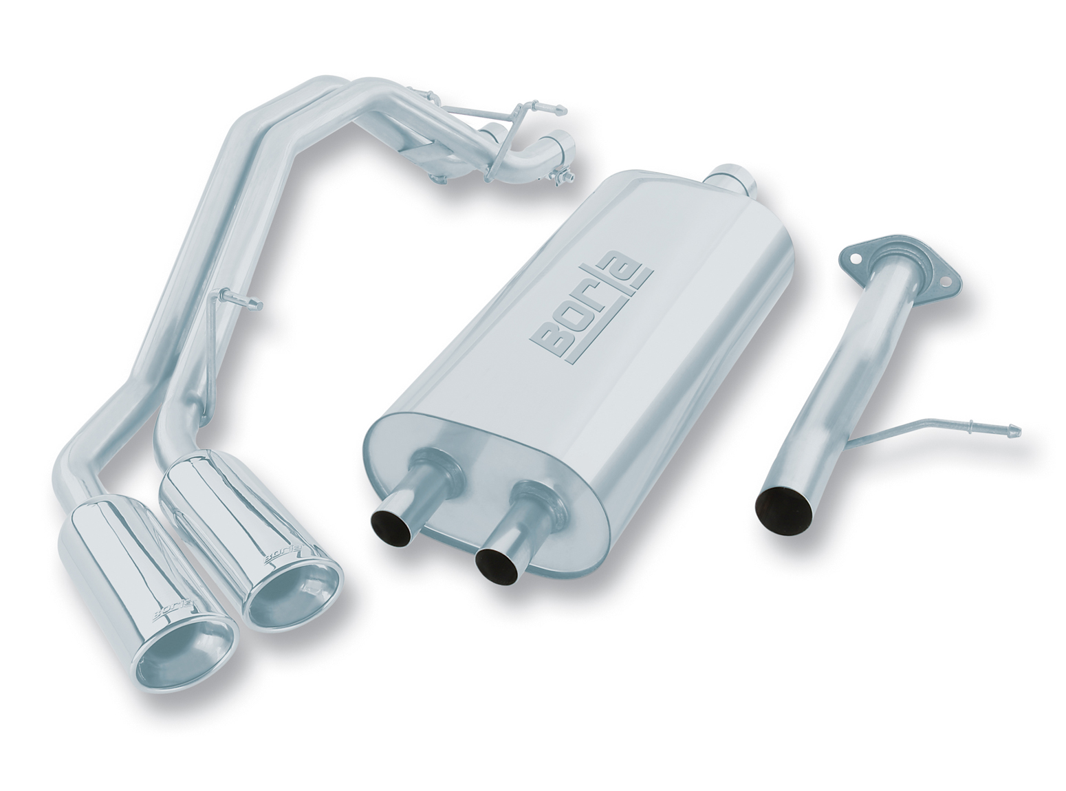 "Cadillac Escalade 5.3l 2002-2006 Borla 2.5"", 2"" Cat-Back Exhaust System - Dual Oval Rolled Angle-Cut"
