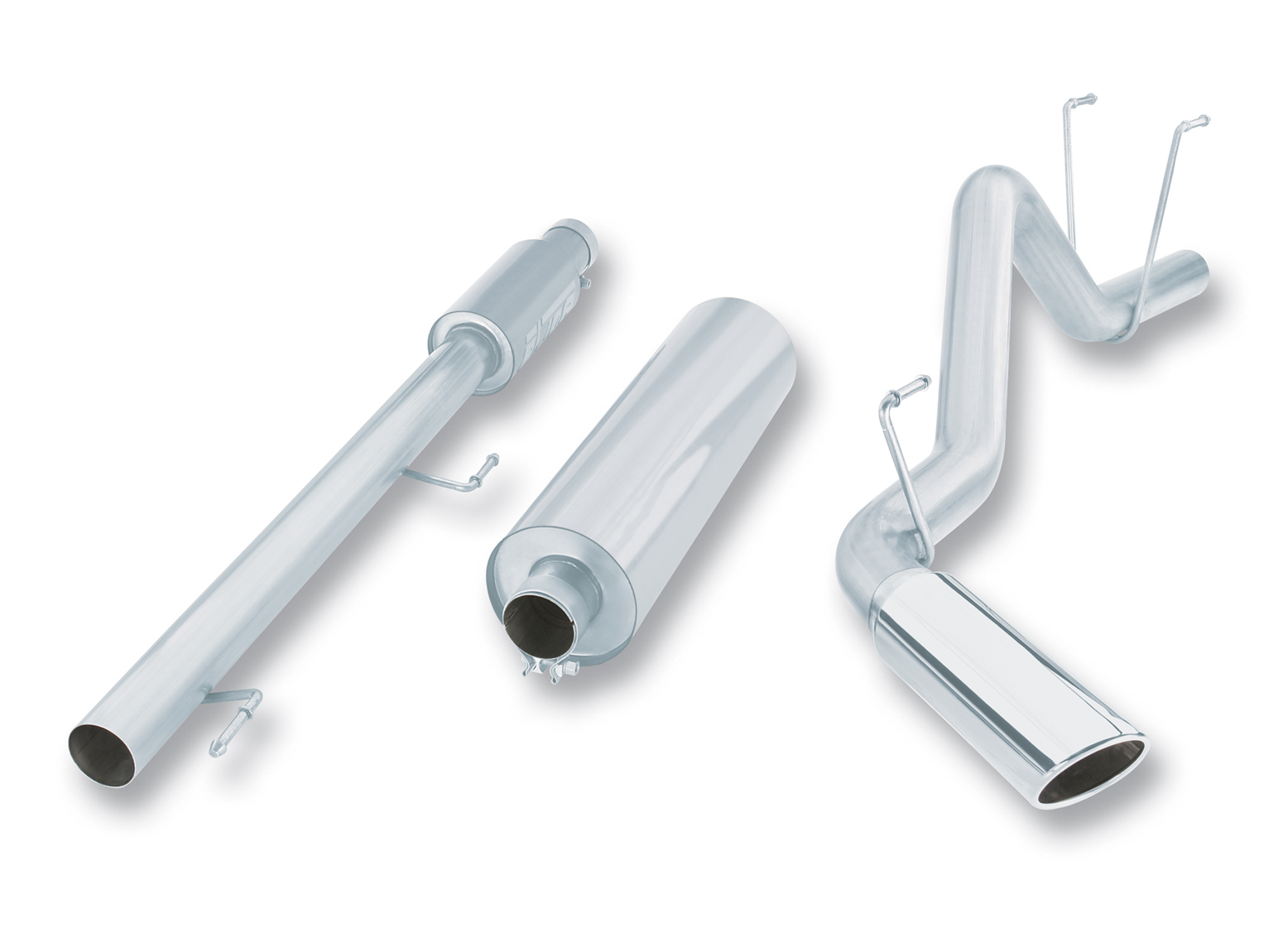 "Dodge Ram 1500 5.7l V8 2006-2008 Borla 3"" Cat-Back Exhaust System - Single Round Rolled Angle-Cut  Long X Single Round Rolled Angle-Cut Intercooled Tips"" Dia"