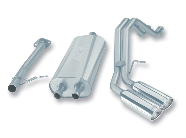 "Chevrolet Avalanche 4.8l/5.3l V8 2001-2006 Borla 2.5"" Cat-Back Exhaust System - Dual Oval Rolled Angle-Cut"