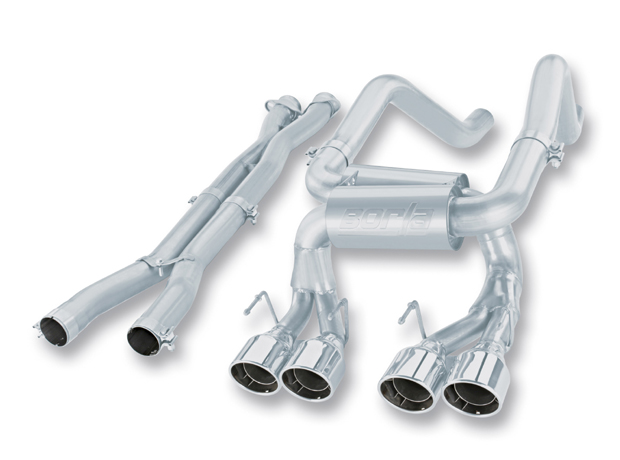"Chevrolet Corvette Zo6/Zr1 7.0l/6.2l V8 2006-2012 Borla 3"", 2"" Cat-Back Exhaust System W/X-Pipe""s-Type"" - Dual Round Rolled Angle-Cut Intercooled"