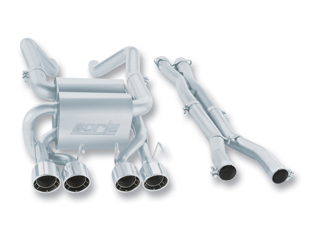 "Chevrolet Corvette Zo6/Zr1 7.0l/6.2l V8 2006-2012 Borla 3"", 2"" Cat-Back Exhaust System W/X-Pipe  ""touring"" - Dual Round Rolled Angle-Cut Intercooled"
