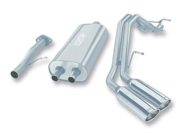 "Chevrolet Tahoe  2007-2008 Borla 2.75"", 2"" Cat-Back Exhaust System - Dual Oval Rolled Angle-Cut"