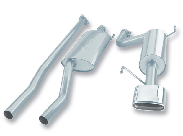 "Honda Ridgeline 3.5l V6 2006-2011 Borla 2.5"" Cat-Back Exhaust System - Single Rectangle Rolled Angle-Cut"