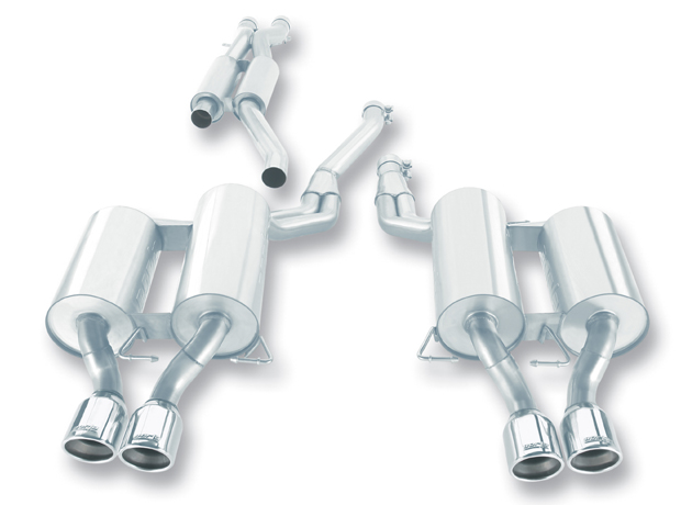 "Bmw 5 Series M5 E60 2006-2010 Borla 2.5"", 2"" Cat-Back Exhaust System - Dual Round Rolled Angle-Cut"