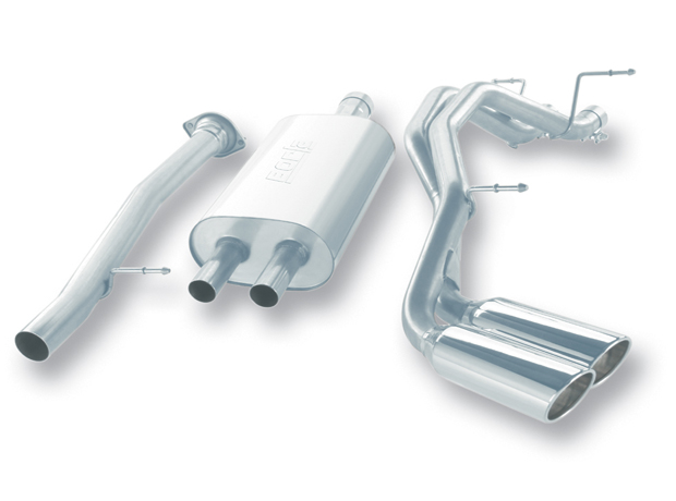 "Cadillac Escalade Esv/Ext 6.2l 2007-2009 Borla 3"", 2.25"" Cat-Back Exhaust System - Dual Round Rolled Angle-Cut"