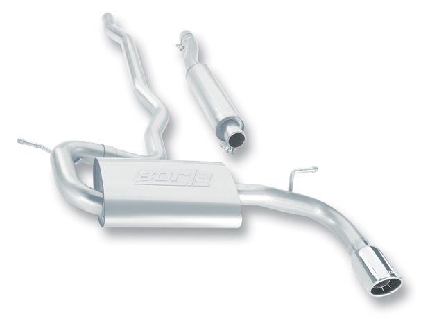 "Dodge Caliber R/T 2.4l 4cyl 2007-2009 Borla 2.25"" Cat-Back Exhaust System - Single Round Rolled Angle-Cut Intercooled Tips"
