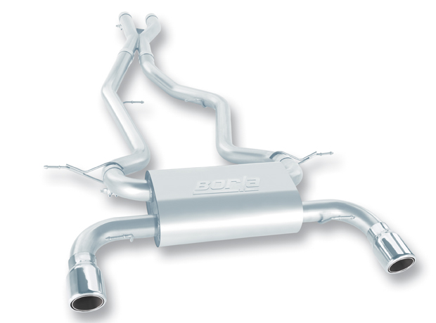 "Bmw 3 Series 335i/Xi Coupe E92 2007-2010 Borla 2.5"" Cat-Back Exhaust System - Single Round Rolled Angle-Cut Lined"