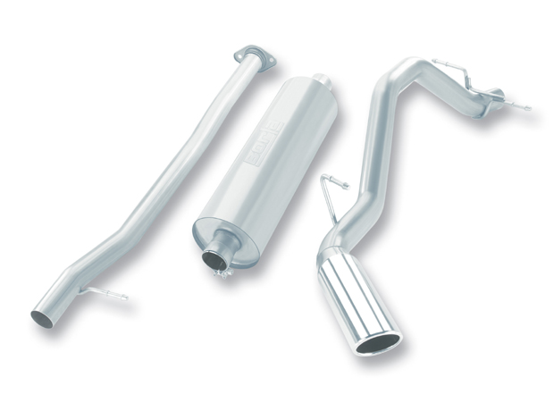 "Gmc Sierra 1500 2007-2008 Borla 2.75"" Cat-Back Exhaust System - Single Round Rolled Angle-Cut  Long X Single Round Rolled Angle-Cut Intercooled"" Dia"
