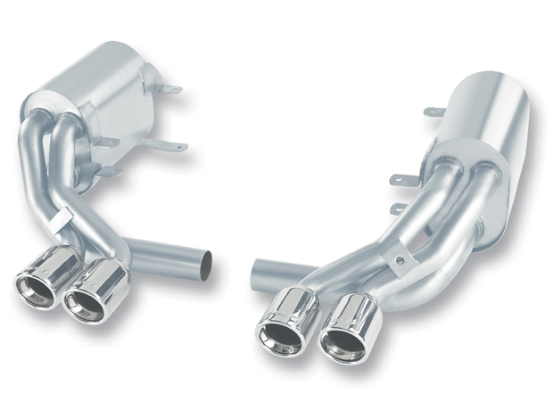 "Porsche 911 997 2005-2008 Borla 2.25"", 1.75"" Cat-Back Exhaust System - Dual Round Rolled Angle-Cut"