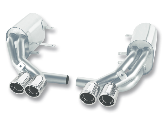 "Porsche 911 997 2005-2008 Borla 2.25"", 1.75"" Cat-Back Exhaust System - Dual Round Rolled Angle-Cut Intercooled"