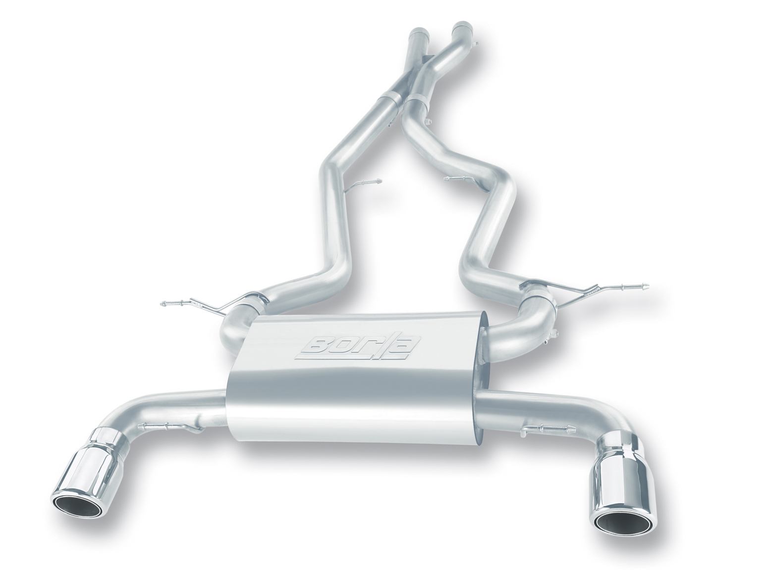 "Bmw 3 Series 335i/Xi Sedan E90 2007-2010 Borla 2.5"" Cat-Back Exhaust System - Single Round Rolled Angle-Cut Lined"