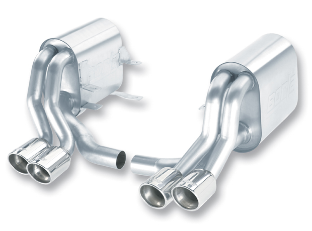 "Porsche 911 996 Gt3 2005-2005 Borla 2.25"", 1.75"" Cat-Back Exhaust System - Dual Round Rolled Angle-Cut"