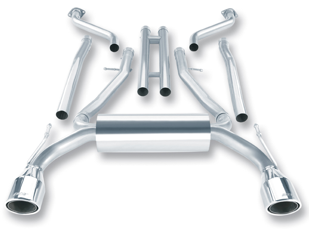 "Infiniti G37 Coupe 2008-2012 Borla 2.25"" Cat-Back Exhaust System - Single Round Rolled Angle-Cut Phantom"