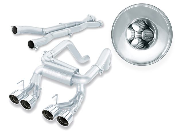 "Chevrolet Corvette Zo6/Zr1 7.0l/6.2l V8 2007-2012 Borla 3"", 2"" Multicore Cat-Back Exhaust System - Dual Round Rolled Angle-Cut Intercooled"