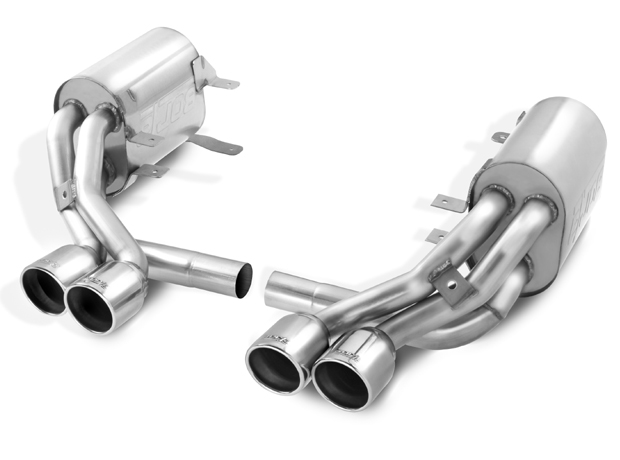 "Porsche 911 997s 2005-2008 Borla 2.5"", 1.75"" Cat-Back Exhaust System - Dual Round Rolled Angle-Cut"