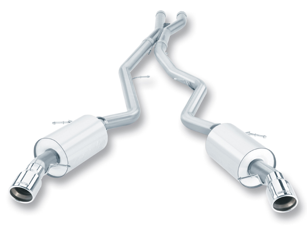Bmw 3 Series 335i/Xi Coupe/Sedan 2007-2010 Borla 2.5&#34; Cat-Back Exhaust System &#34;aggressive&#34; - Single Round Rolled Angle-Cut Lined