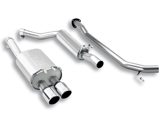Honda Civic Sedan 2.0l 4 Cyl 2007-2011 Borla 2.25&#34; Cat-Back Exhaust System - Dual Round Rolled Angle-Cut