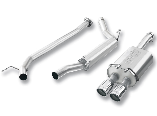 "Honda Civic Coupe 2.0l 4 Cyl 2006-2011 Borla 2.25"" Cat-Back Exhaust System - Dual Round Rolled Angle-Cut"