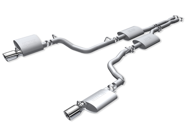 "Dodge Magnum SRT-8 6.1l 2005-2008 Borla 2.75"" Cat-Back Exhaust System - Single Round Rolled Angle-Cut Lined"