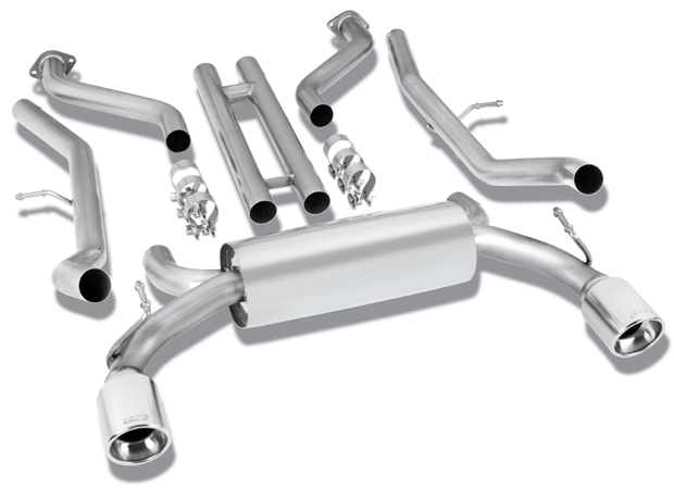 "Nissan 370z  2009-2012 Borla 2.25"" Cat-Back Exhaust System - Single Round Half-Rolled Angle-Cut Phantom"