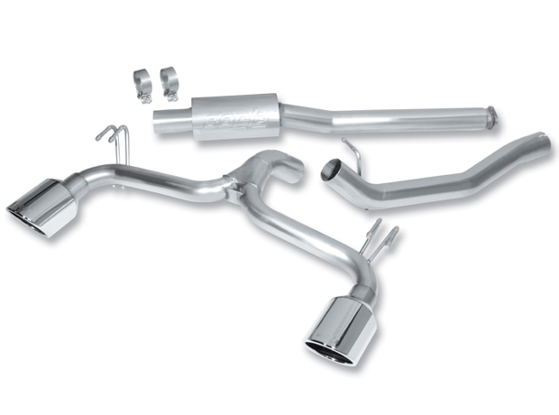 "Mitsubishi Lancer Ralliart 2.0l Turbo 2009-2011 Borla 2.75"", 2.25"" Cat-Back Exhaust System - Single Round Rolled Angle-Cut"