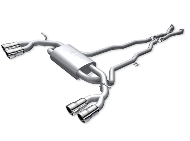 "Hyundai Genesis Coupe 3.8l V6 2010-2011 Borla 2.5"", 2"" Cat-Back Exhaust System - Dual Round Rolled Angle-Cut Intercooled"